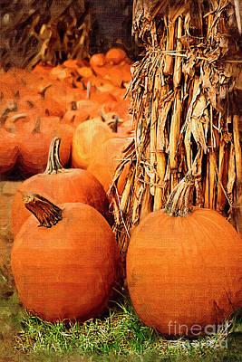 Digital Art - Pumpkins by Jill Lang