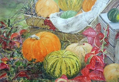 Painting - Pumpkins by Mickey Raina