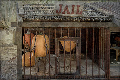 Photograph - Pumpkins Planning A Jail Break by Teresa Wilson