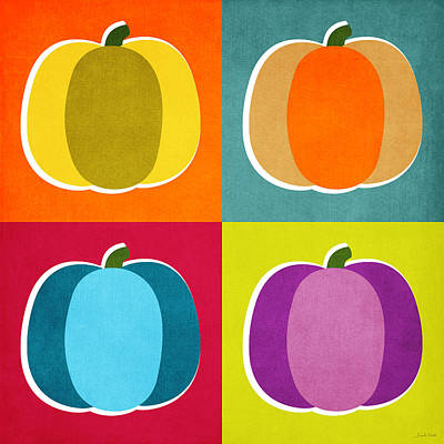 Digital Art Rights Managed Images - Pumpkins- Pop Art by Linda Woods Royalty-Free Image by Linda Woods