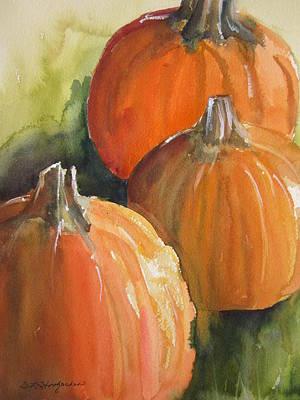 Painting - Pumpkins by Sandra Strohschein