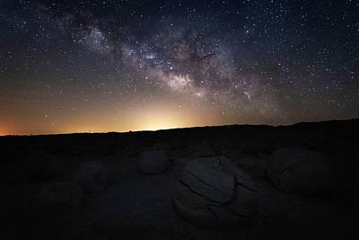 Photograph - Pumpkins Under The Stars by Scott Cunningham
