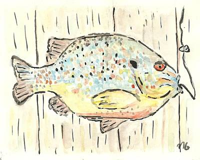 Painting - Pumpkinseed Sunfish by Matt Gaudian