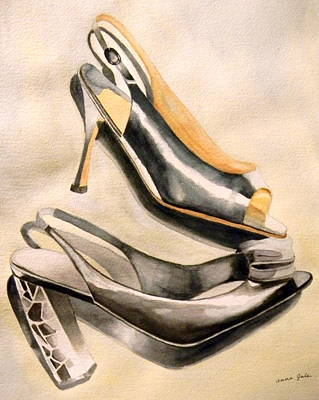 Fancy Shoes Painting - Pumps by Anna Lohse