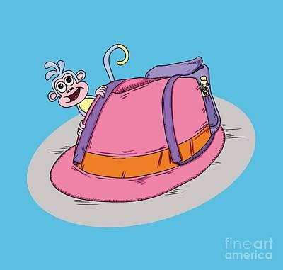 Pun Intended - Funny Design - Puns - Fedora The Explorer - Dora The Explorer Parody - Humour Art Print