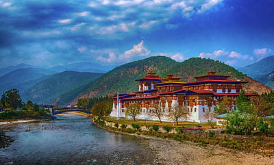 Photograph - Punakha Dzong by Pravine Chester