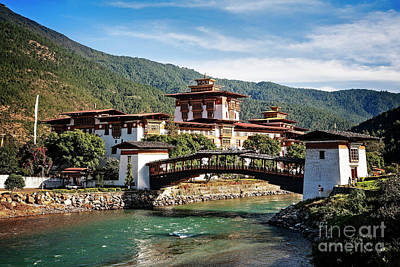 Photograph - Punakha Dzong by Scott Kemper