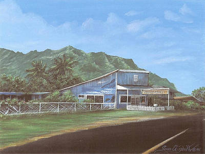 Painting - Punaluu Art Gallery, Hawaii by Susan Elizabeth Wolding
