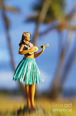 Hula Girl Art Photograph - Punaluu, Hula Doll by Greg Vaughn - Printscapes