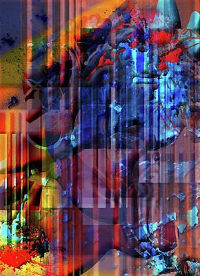 Smooch Digital Art - Punch And Judy by Monroe Snook