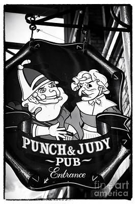 Punch And Judy Pub Art Print by John Rizzuto