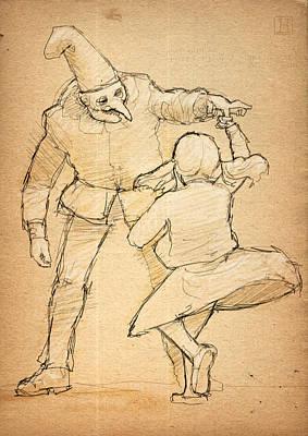 Punch And Little Judy Art Print
