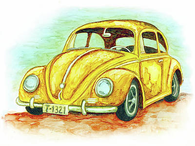Painting - Punch Buggy by Jennifer Allison