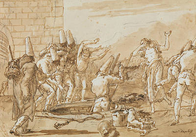 Photograph - Punchinello Retrieving Dead Fowls From A Well by Giovanni Domenico Tiepolo