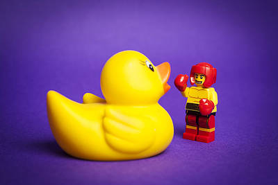 Rubber Duck Photograph - Punchy by Samuel Whitton