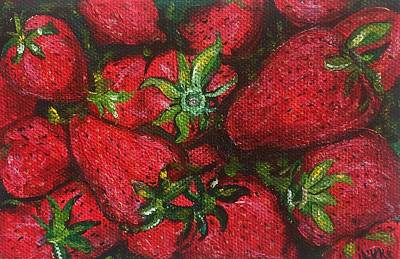 Painting - Pungo Strawberries by Vikki Angel
