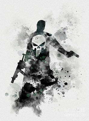 Spider Mixed Media - Punisher by Rebecca Jenkins