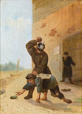 Painting - Punishment by Alexander Vasilivitch Vyushin