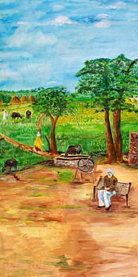 Punjabi Farmer Art Print