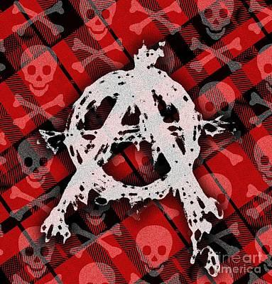 Punk Anarchy Art Print by Roseanne Jones