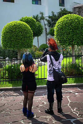 Mohawk Hairstyle Photograph - Punk - Mexico City by Totto Ponce