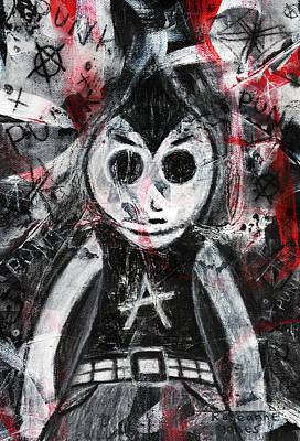Mixed Media - Punk Rock Pete by Roseanne Jones