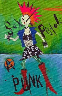 Punk Rocks Her Art Print by Ricky Sencion