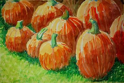 Painting - Punkins by Jame Hayes