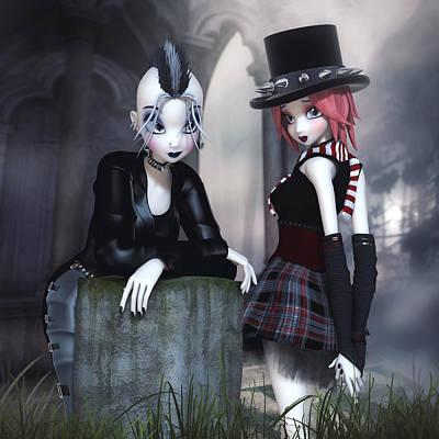 Digital Art - Punky Goths by Brandy Thomas