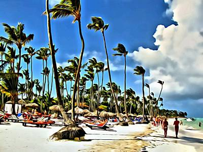 Beach Landscape Mixed Media - Punta Cana by Anna Finist