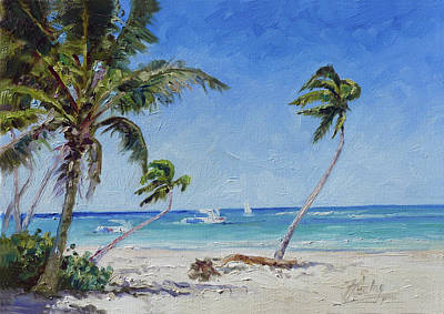 Painting - Punta Cana Bavaro - Sea Beach 14 by Irek Szelag