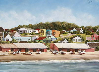 Art Print featuring the painting Punta Del Diablo 2 by Natalia Tejera