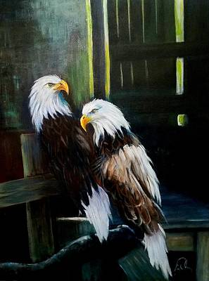 Nature Center Painting - Punta Gorda Florida Rescue by Larry Palmer