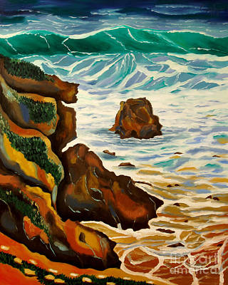 Painting - Punta Rincon by Milagros Palmieri