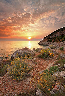 Mountain Sunset Photograph - Punta Rossa by Paolo Corsetti