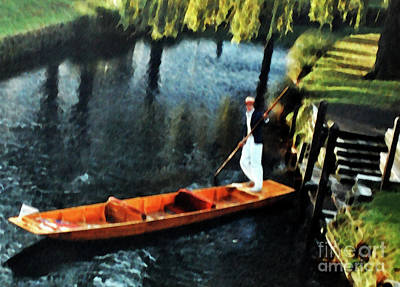 Photograph - Punter On The Avon River by Lydia Holly