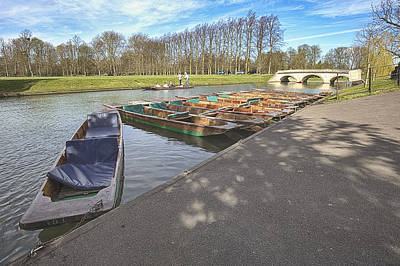 Photograph - Punting Boats In Cambridge by Prashant Meswani