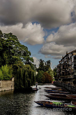Uk Photograph - Punting, Cambridge. by Nigel Dudson