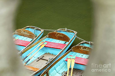 Photograph - Punting, Magdalen Bridge, Oxford, England, Uk by Tom Rydel