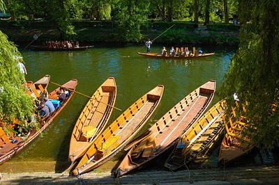 Photograph - Punts On River Neckar In Tubingen Germany by Matthias Hauser