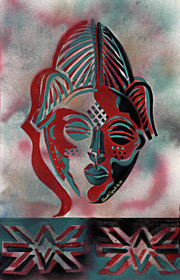 Mixed Media - Punu Mask by Everett Spruill