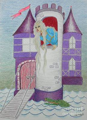 Drawing - 'punzel -- Portrait Of Storybook Character Rapunzel by Jayne Somogy