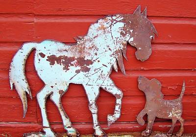 Photograph - Pup And Pony 1 by Larry Campbell