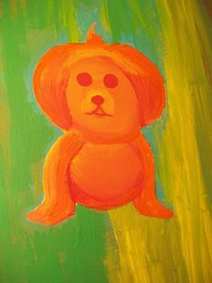 Pupmpkin Head Dog Art Print by Laurette Escobar