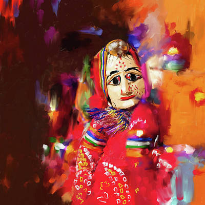 Puppet Painting - Puppet 435 2 by Mawra Tahreem