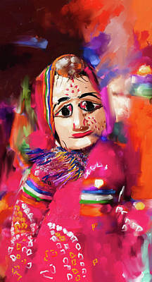 Puppet Painting - Puppet 435 3 by Mawra Tahreem