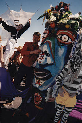 Photograph - Puppet With Artist In Witch Doctor Costume by Alma