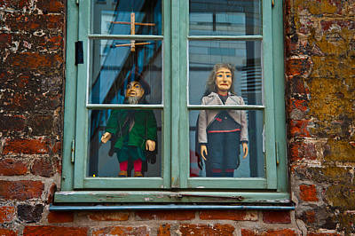 Lubeck Photograph - Puppets In Window by Harry Spitz