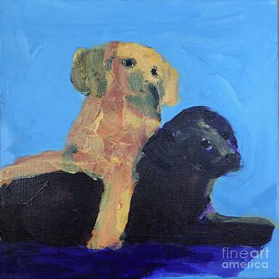 Painting - Puppies by Donald J Ryker III