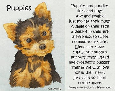 Mixed Media - Puppies by Patricia Walter